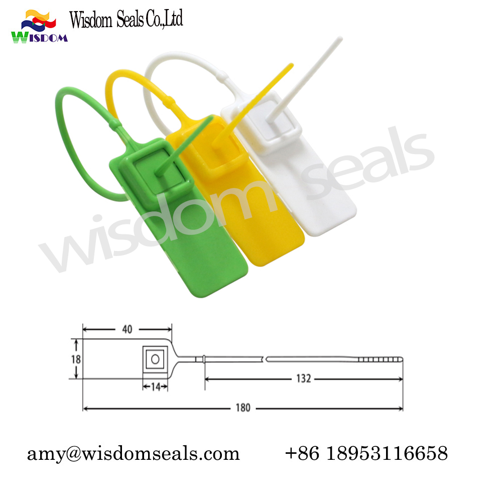 WDM-PS118  18cm Cargo Security Plastic Seal with laser print and serial Number
