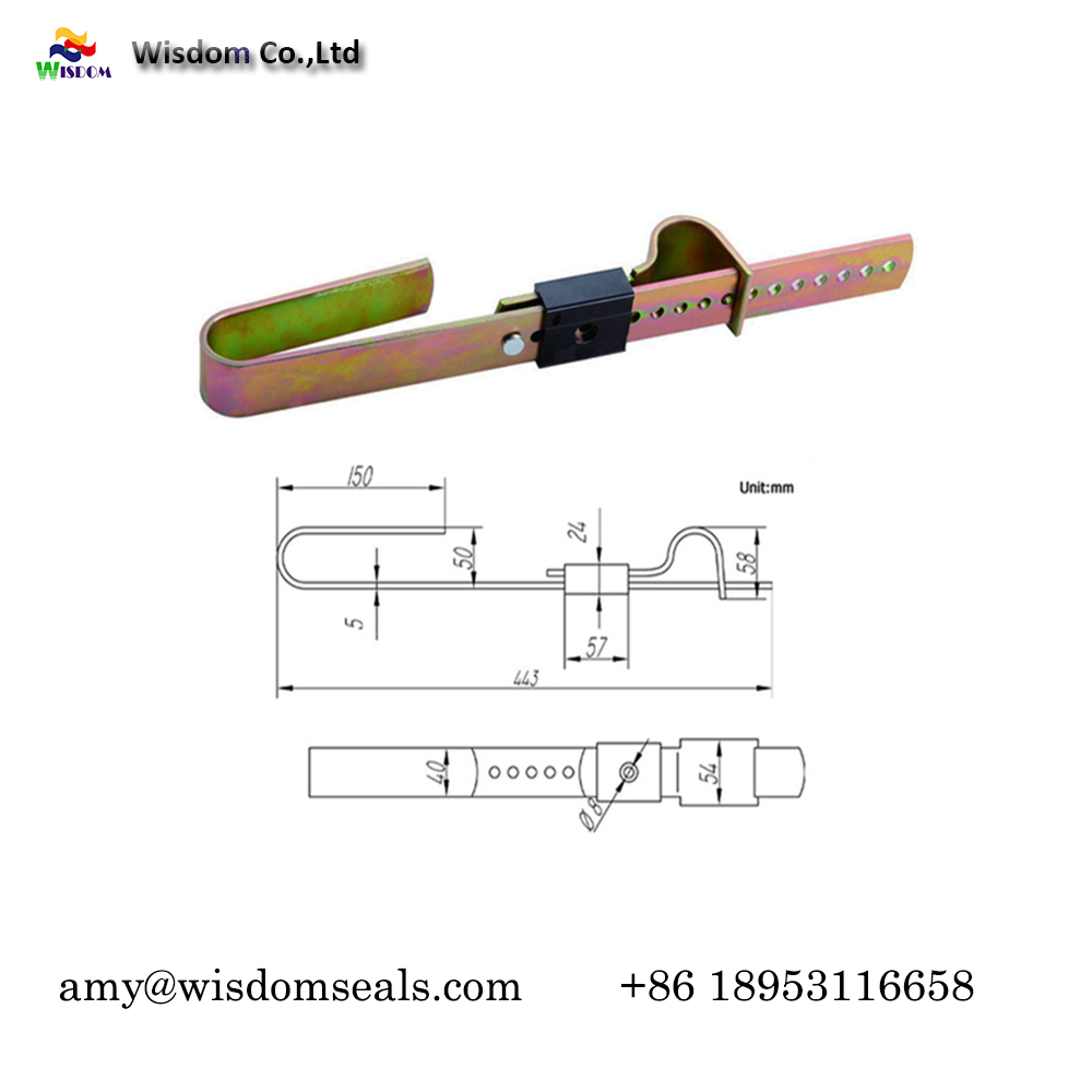 WDM-SS103 Container security barrier seals high security Truck Seals heavy duty Seals , ISO 17712 High Security Seal