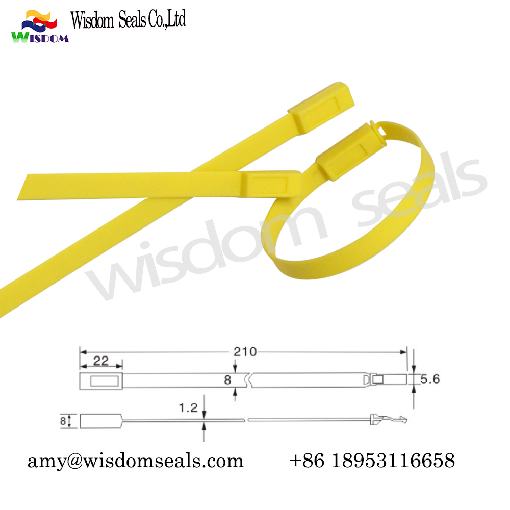 WDM-PS421  21cm one time used Cargo courier luggage Security Plastic strip Seal