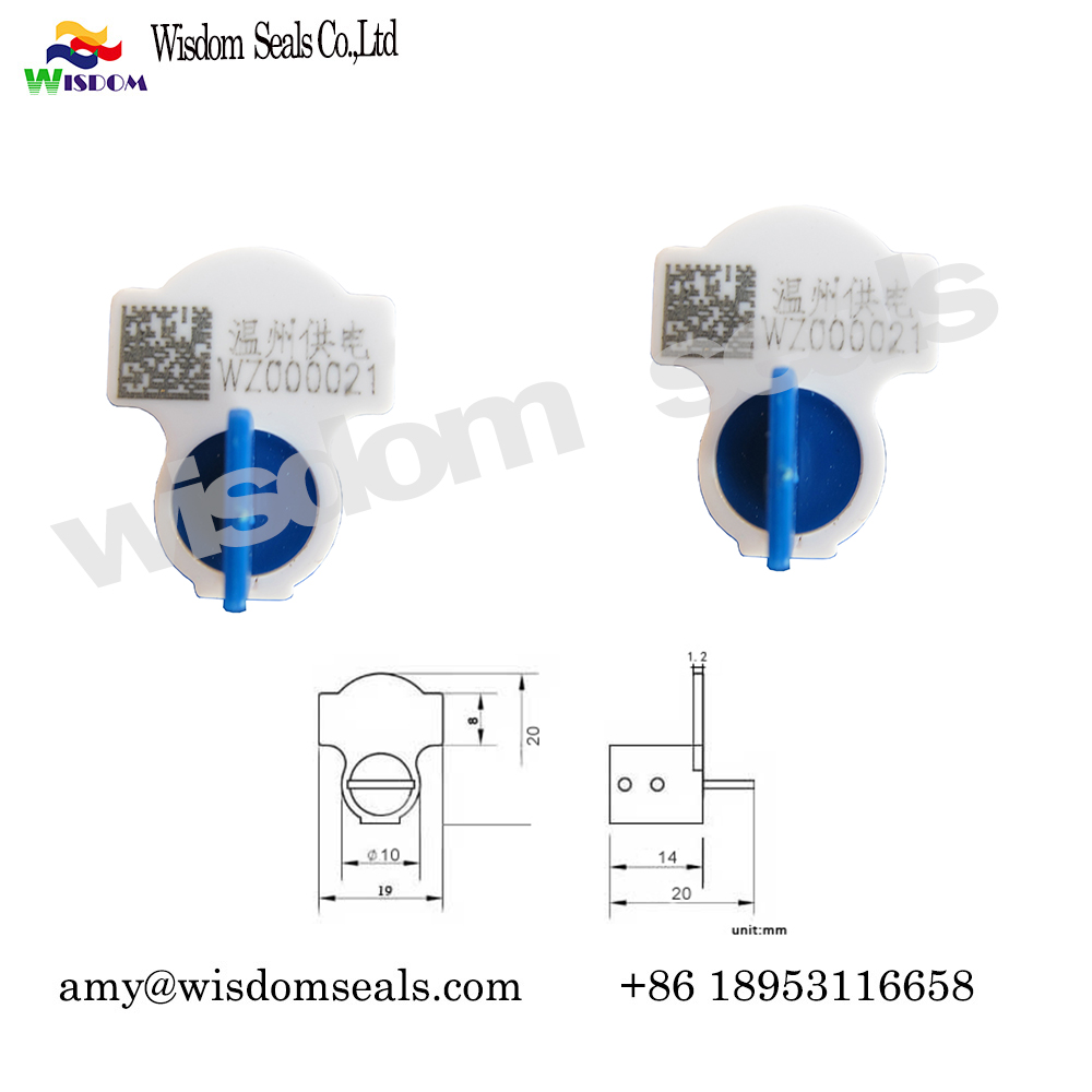WDM-MS105 OEM laser print numbered twist tight Adjustable electronic security water meter seal