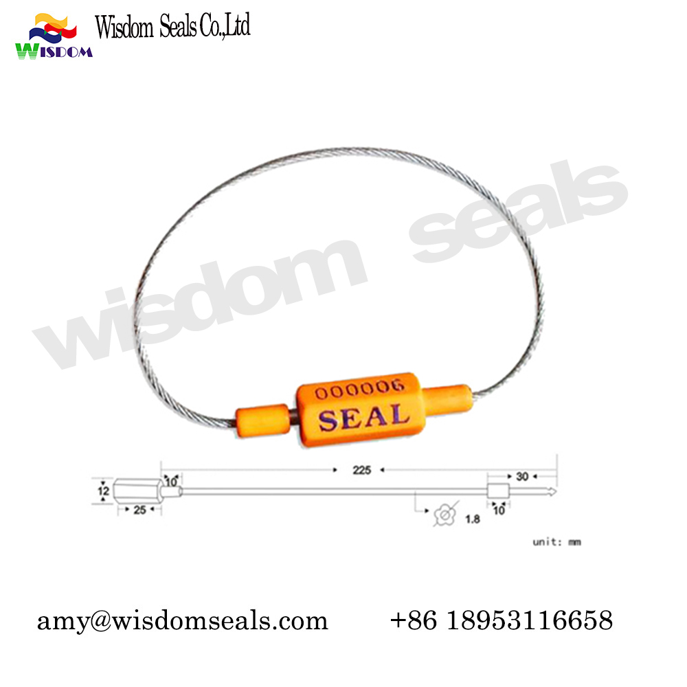 WDM-CS318  1.8mm fixed length security tie ABS coated container truck trailer shipping cable seal​
