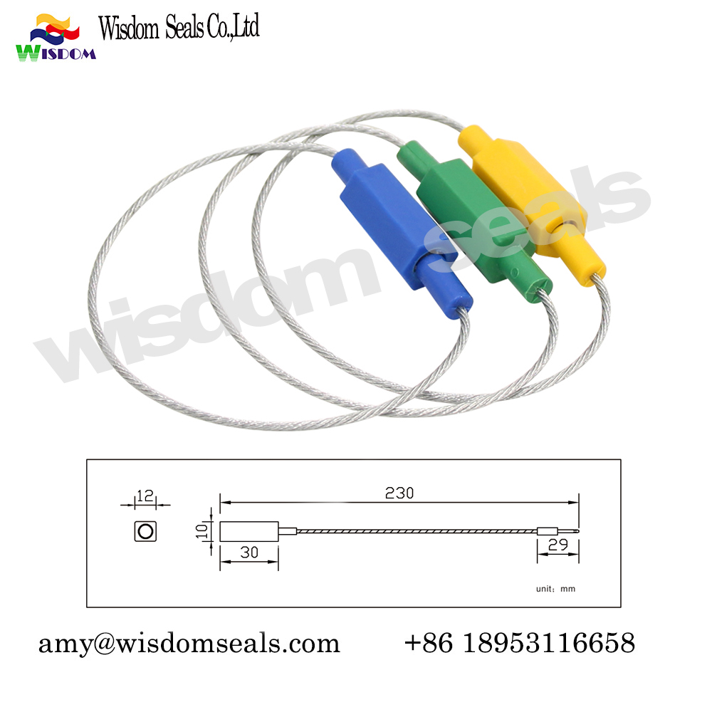 WDM-CS318    ISO17712 trailer shipping transport luggage plastic cable seal​  with custom barcode