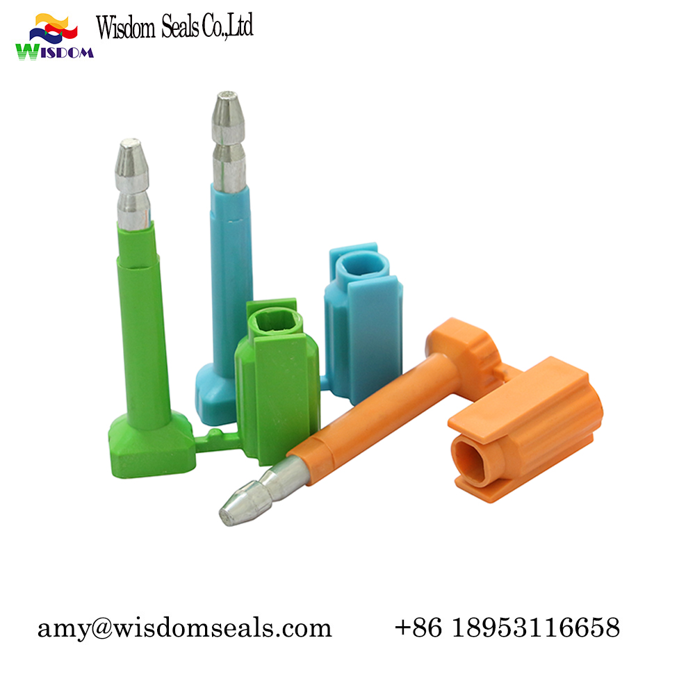 WDM-BS338  customs logo numbered Anti Spin indicative disposable high Security container bolt seal for transportation and shipping