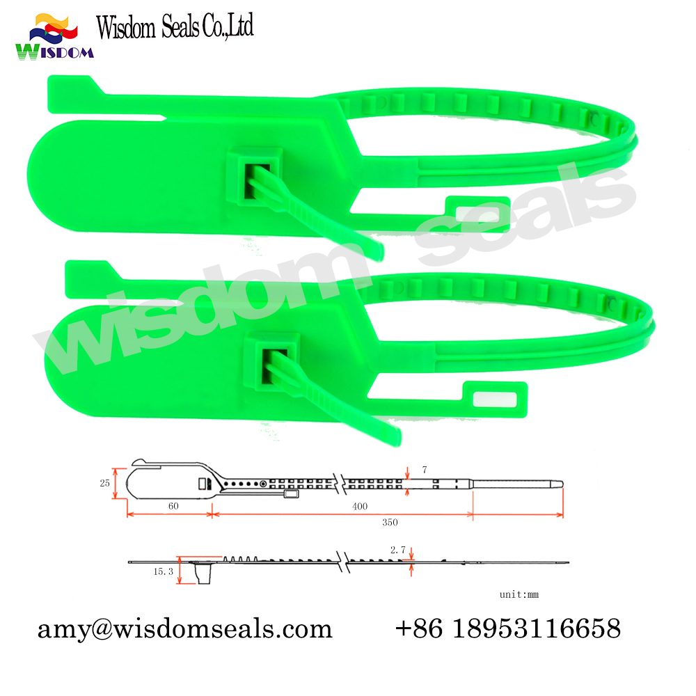 WDM-PS240A   tear off security container courier plastic strip seals  for banking and Airline