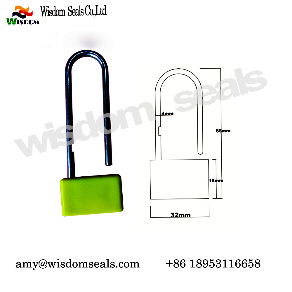WDM-PL102  one time used indicative security container plastic padlock seal for truck