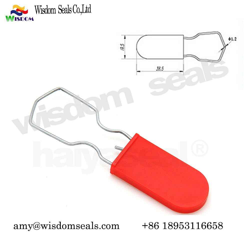 WDM-PL101 laser print numbered indicative security container plastic padlock seal for  trailer shipping