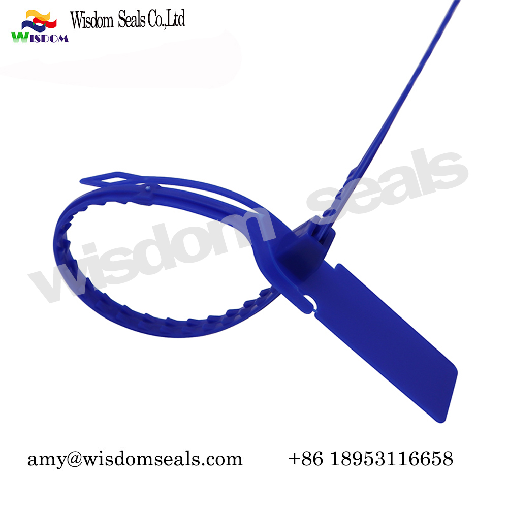 WDM-PS235 tear off custom logo tamper proof pull tight plastic  strip seals for cargo transport