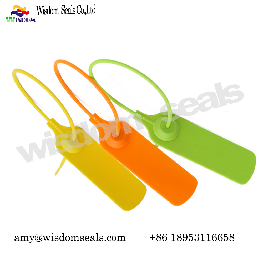 WDM-PS120 logistics parcel security pull tight cash bag lock courier plastic seals  with customs logo