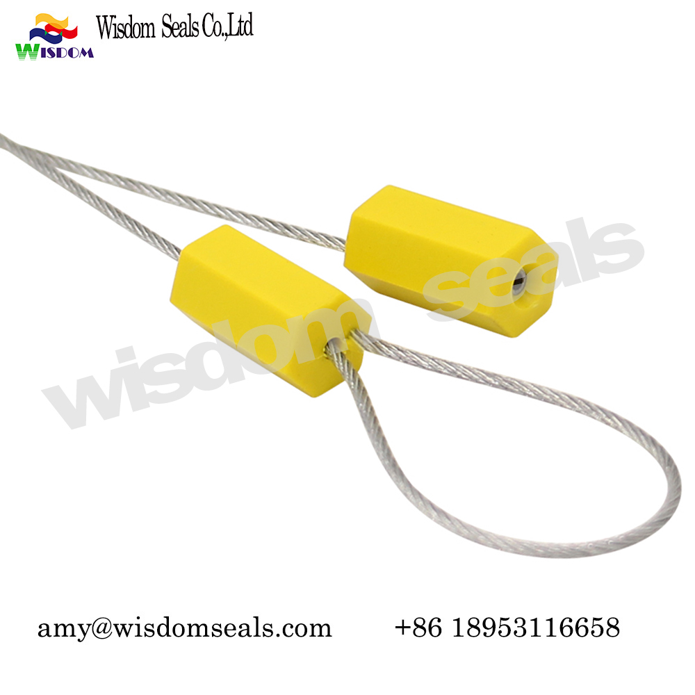 WDM-CS218 Hexagon  ABS coaed logo printed adjustable length security cable lock seal​s for container and truck