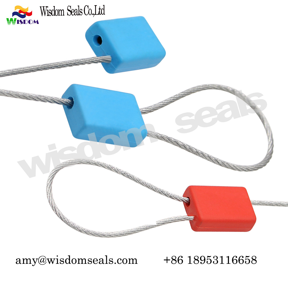 WDM-CS528 Oil Tanker tamper Evident Container Cable Security Seals with logo printing